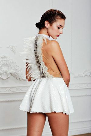 White Swan Back Feathers