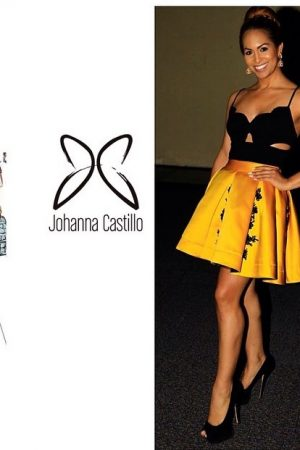 Yellow Skirt with Black embroidery