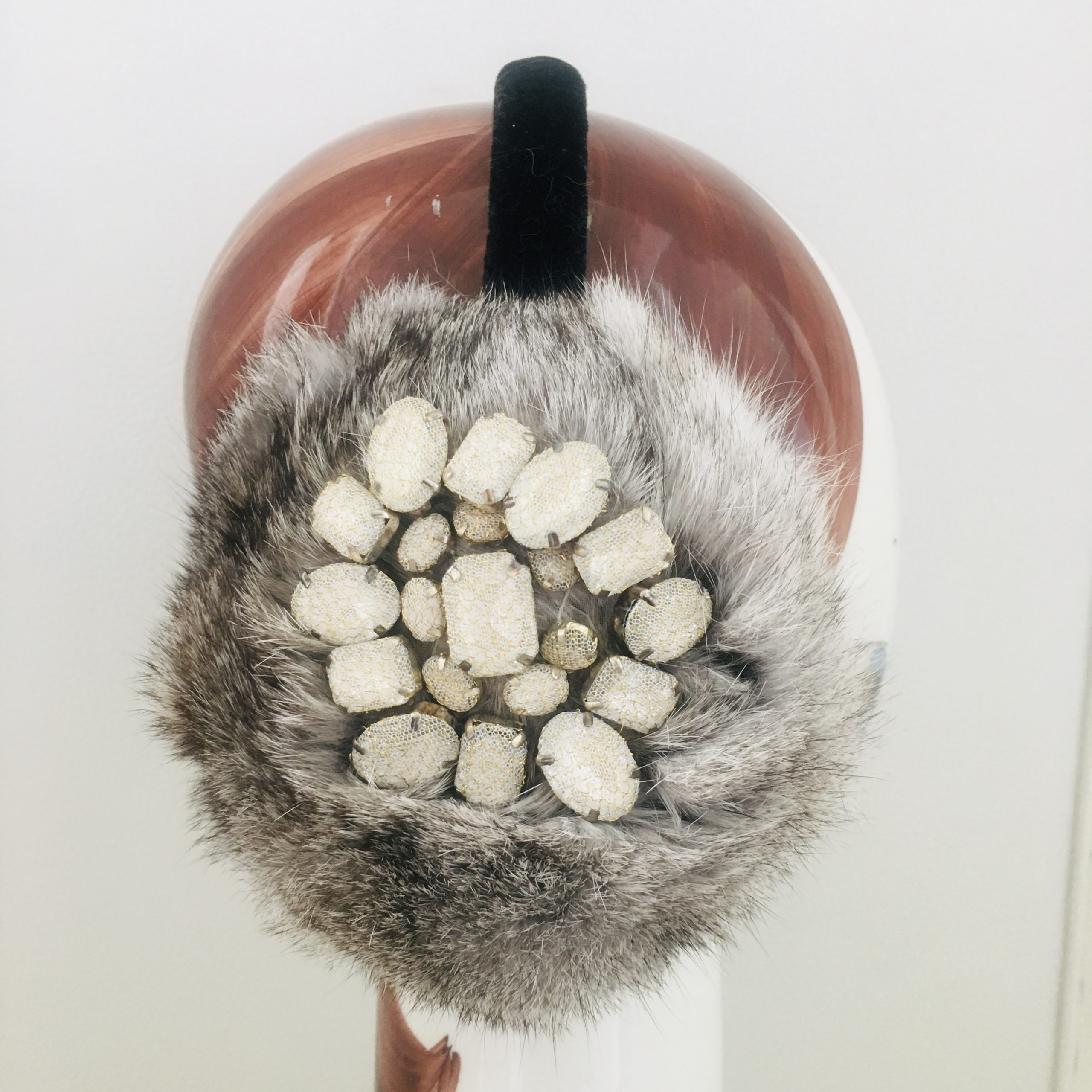Earmuffs Grey with Stones
